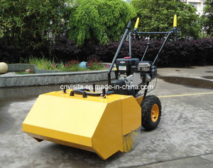 Outdoor Garden Sweeper with Dust Collector